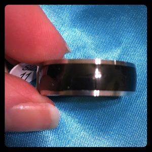 Other - Black & Silver Mens Size 11 Ring